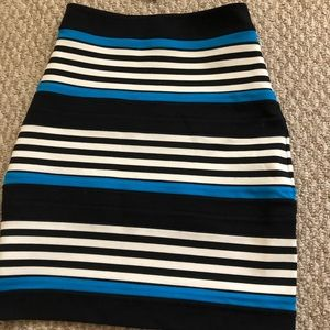 Express striped skirt!